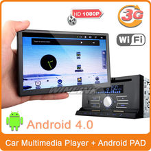"""Free shipping 7"""" Double Din HD GPS Car DVD Player BT TV + WiFi 3G Android 4.0 PAD MID Tablet (PAD built Bluetooth)(China (Mainland))"""