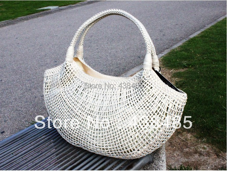 Sequins& Hand Weave Women Shoulder Bag Medium Famous Brand Leather Handbags Summer Beach Bags 2014 - China Best Genuine Supplier store