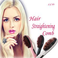 Electric Fast Hair Straightener Combs Brush LCD Flat Iron Electric Hair Brush Profesional Straightening Comb escova alisadora(China (Mainland))