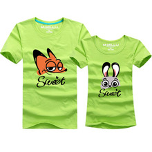 2016 New arrival couple shirts family look 11 colors cotton summer tops tees matching family clothes family t-shirts men women