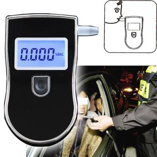 2016 NEW Hot! Professional Police Digital Breath Alcohol Tester Portable Breathalyzer Detector Dual LCD Display Free Shipping(China (Mainland))