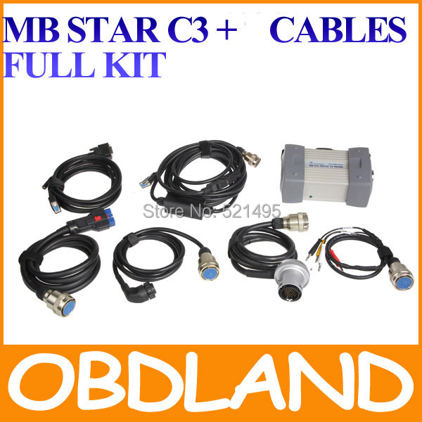 2015 version Full pro Kits Super MB Star C3 Professional Star C3 Multiplexer tester Star compact 3 C3 Diagnosis(China (Mainland))