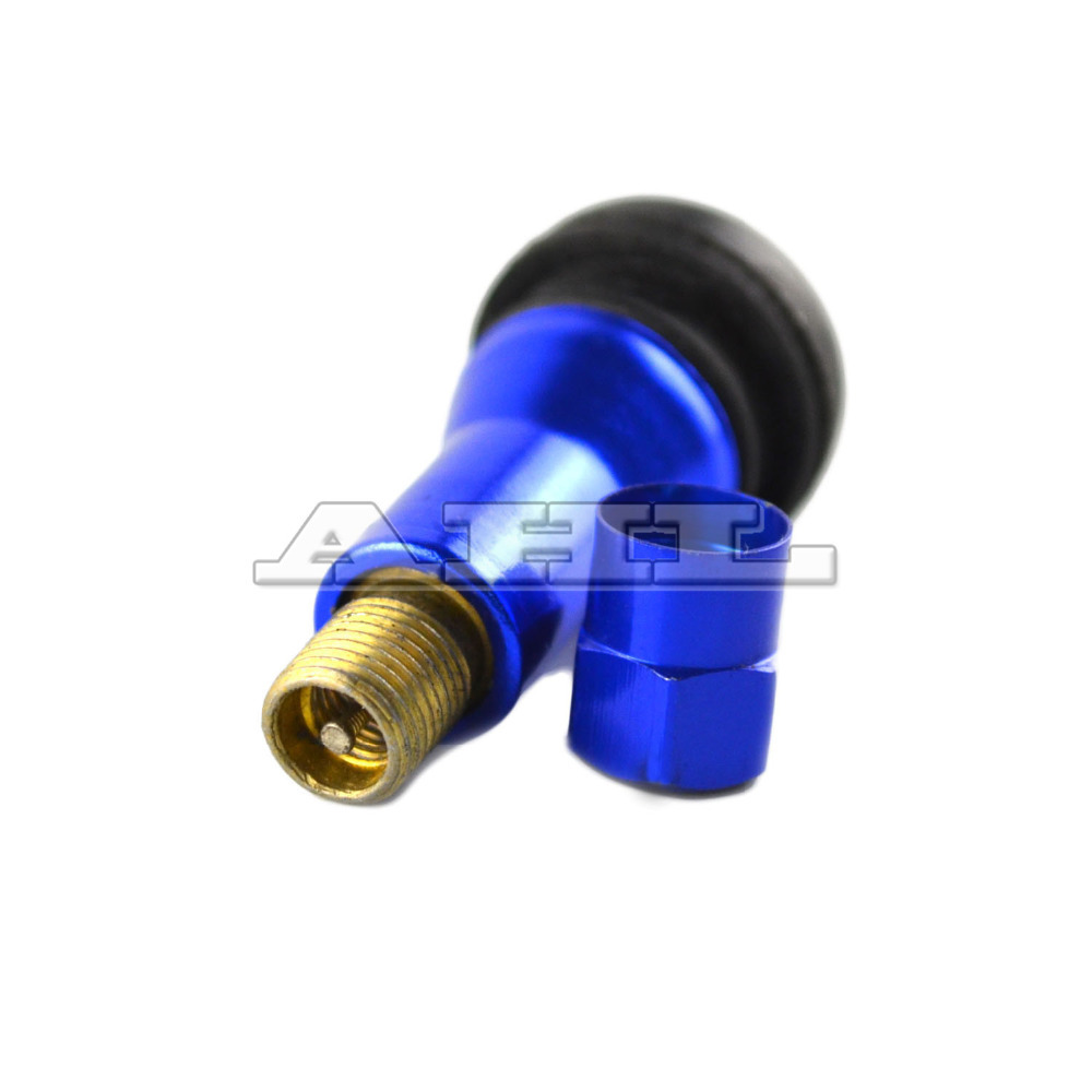 Blue ANODIZED MOTORCYCLE TIRE AIR WHEEL VALVE STEM CAP inflating valve cycle valve(China (Mainland))
