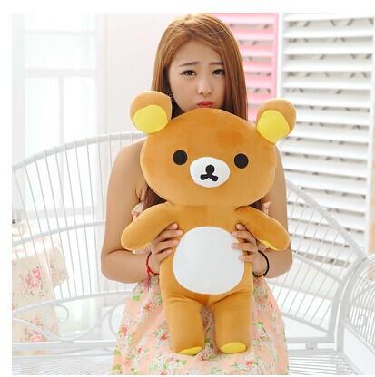 80 cm San-x Rilakkuma bear plush toy bear doll throw pillow gift w5180(China (Mainland))