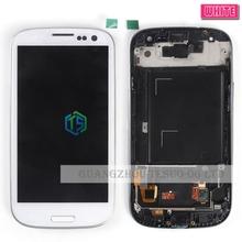 Новый белый i9300 i9301 жк-дисплей для samsung galaxy s3 I9305 сенсорный жк-экран digitizer полный ассамблея с рамкой свободная перевозка груза 1 шт./лот(China (Mainland))