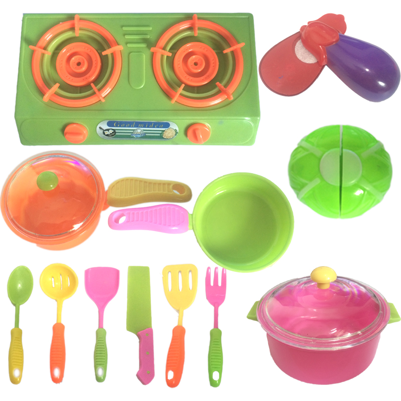 Educational Kids Toys 3 Years Combination Classic Pretend Children Play Kitchen Set Utensil Cooker Playset Cooking Toys For Kids(China (Mainland))