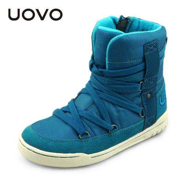 UOVO марка новая мода стиль детей мальчиков и девочек shoes high вырезать зима shoes ботинка шнурок дети спорт shoes для 4-15 лет старый