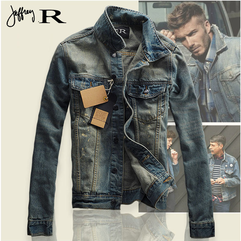 Cheapest Men's Denim Jacket high quality fashion Jeans Jackets Slim fit casual streetwear Vintage Mens jean clothing Size S-XXL(China (Mainland))