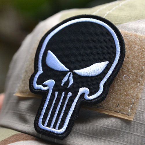 Exclusive 3D embroidery Punisher 3 Velcro armband morale color double-sided Velcro patch affixed military patches badges(China (Mainland))