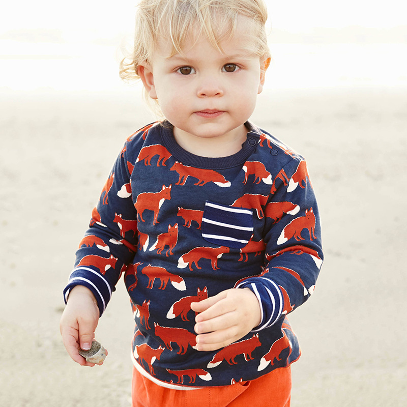 Brand Mini Rodini Kids Clothes Cute Fashion Autumn Boys T