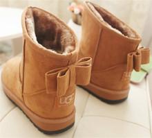 Moda Para Mujer Botas Zapatos de la Nieve UG Imitación de Cuero Para Mujer Botines Zapatos Calientes Zapatos de Invierno Para Mujer Al Por Mayor(China (Mainland))