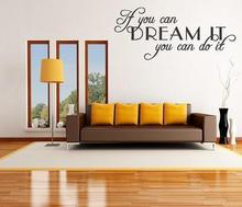 Buy Can Dream Can Vinyl Wall Decal Inspirational Quote Saying for $6.89 in AliExpress store