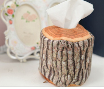 2018 Wood Shape Pillow Sofa Cushion Funny Tissue Box Toy Doll Sofa Car Head Rest HomeDecor Home&Garden Textile seat cushion