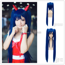 Wendy Marvell Heat Resistance Synthetic Natural Hair Full Lace Wigs Anime Fairy Tail Long Straight Halloween Party Cosplay Wig