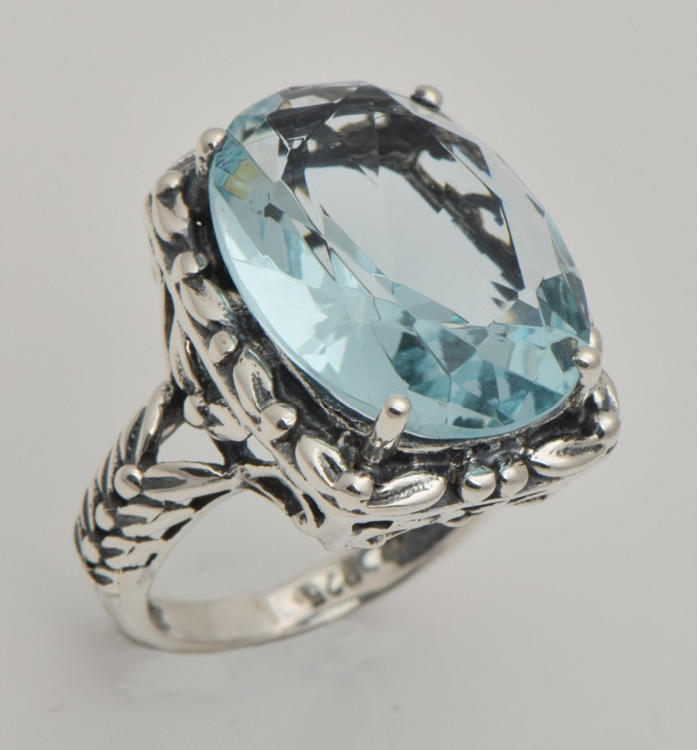 popular sterling silver aquamarine rings buy cheap