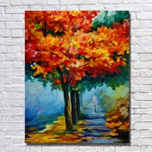 Buy Big Size High Handmade Abstract Modern Landscape Oil Painting Canvas Wall Pictures Home Decoration Framed Art for $10.14 in AliExpress store