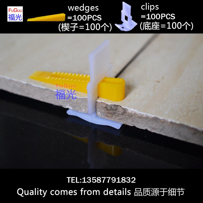 Гаджет  yellow tile leveling system 100pcs clips and 100pcs wedges None Строительство и Недвижимость