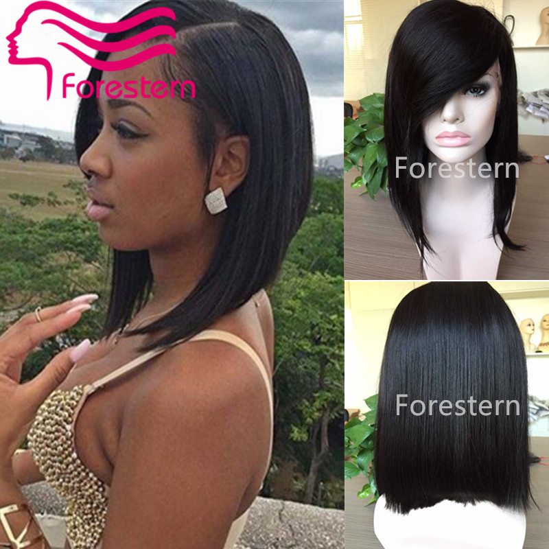 Short Bob Wigs For Black Women Glueless Lace Front Human Hair Bob Wig ...