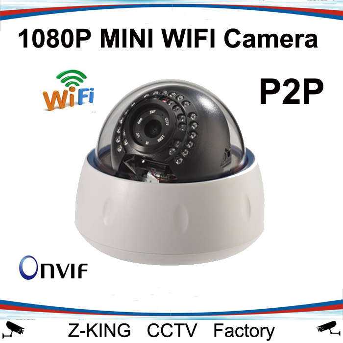 Free shipping 2.0MP 1080P CCTV Camera IP WIFI Wireless Dome Waterproof for indoor ONVIF P2P<br><br>Aliexpress