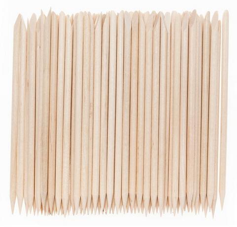 10pc Angled Double Sided Orange Wood Stick Nail Cuticle Pusher AE02041(China (Mainland))
