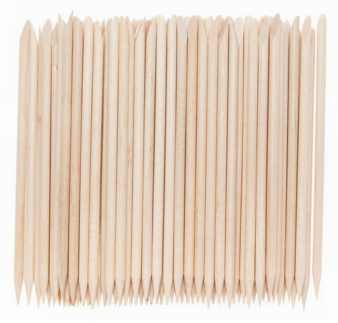 10pc Angled Double Sided Orange Wood Stick Nail Cuticle Pusher AE02041(China (Mainland))