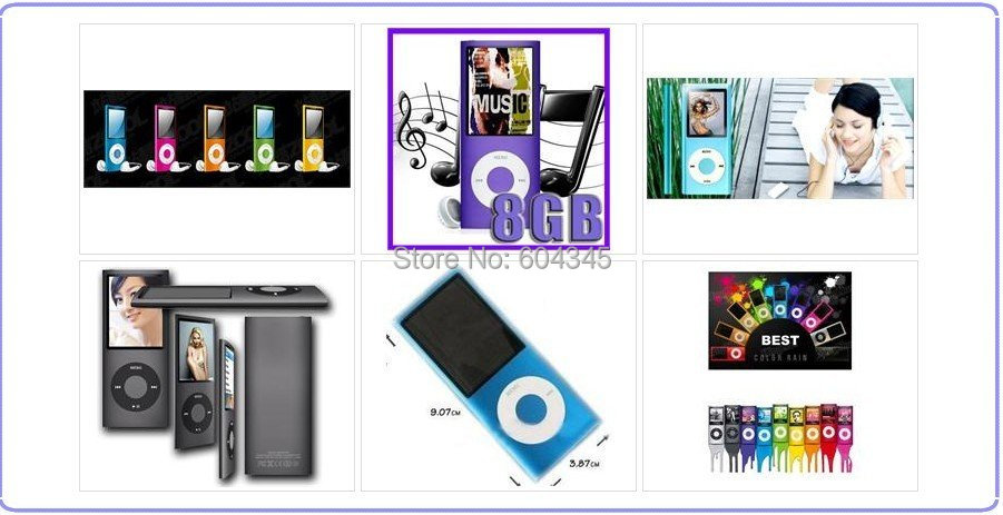 Slim 1 8 4th gen 32GB 9Colors for choose mp3 player Music playing time 30Hours fm
