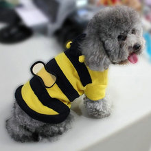 Pet Dog Cat Bumble Bee Wings Fleece Hoody Coat Costume Puppy  Clothes(China (Mainland))