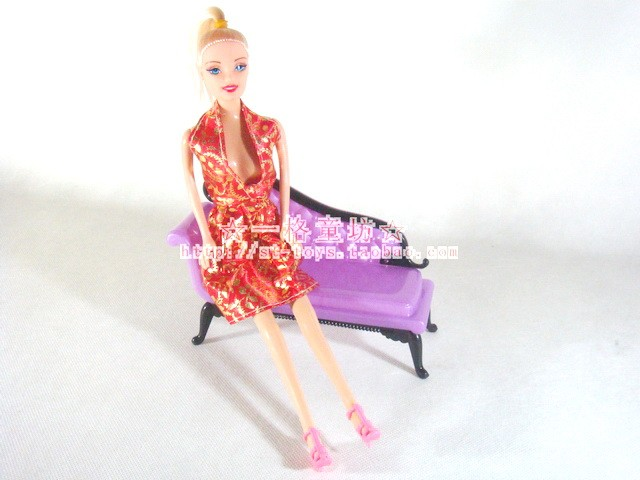 Mini Dolls Dollhouse Furnishings Cute Princess Dreamhouse Chair Couch Furnishings for barbie Child Toys ladies Present Sizzling Promoting