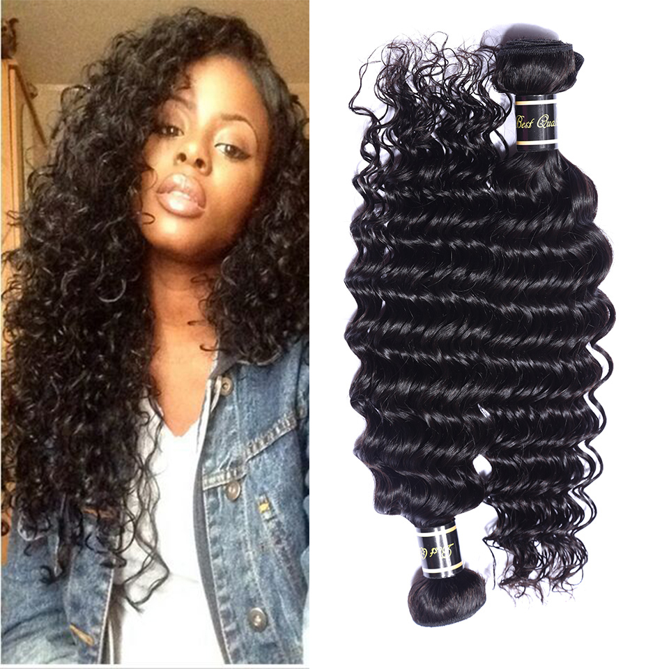 Brazilian hair weave bundles brazilian Deep Wave human hair deep wave 100% human  hair extensions 10''-30'' length availible