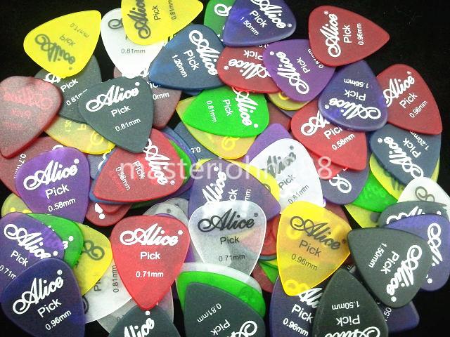 Lots of 200pcs Alice Matte Clear Colorful Guitar P...