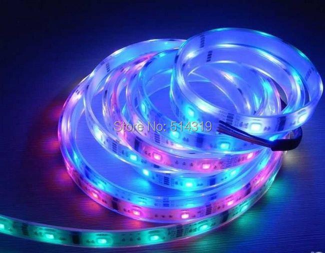 Magic LED Strip 5050 RGB SMD Intelligent Strip Light Dream Color 6803IC 5M waterproof 133 Program Free Shipping 1 set/lot(China (Mainland))