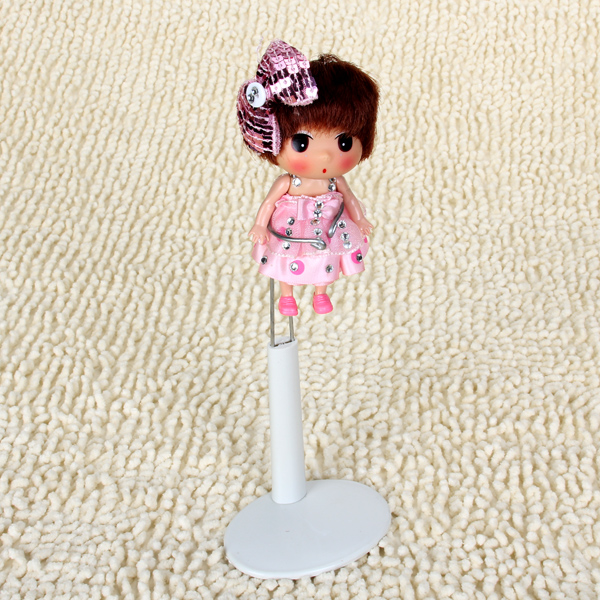 New Hot 7.9 - 10 Inch White Adjustable Height Fixator Frame Display Doll Stand Display Holder Dolls Supplies Accessories(China (Mainland))