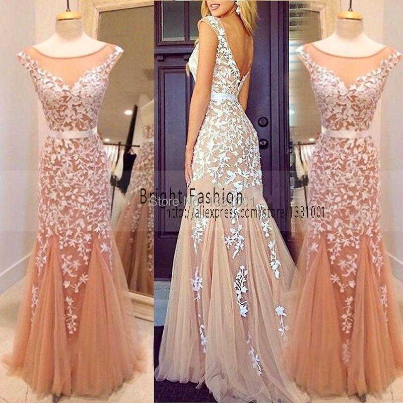 Платья с кружевом вечерние