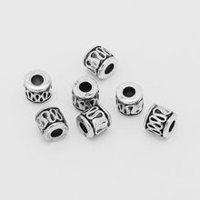 100 pcs/lot  Silver Tube Spacer Beads Charms With 2mm Hole