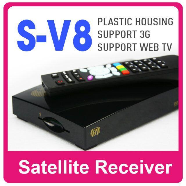 1PC Skybox v8 Original S-V8 Satellite Receiver Support 2 USB WEB TV Youtube/3G modem Card Sharing CCCAM/MGCAM/NEWCAM(China (Mainland))
