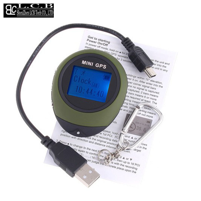 Handheld Keychain Mini GPS data logger USB Rechargeable For Outdoor Sport Free shipping Dropshipping(China (Mainland))