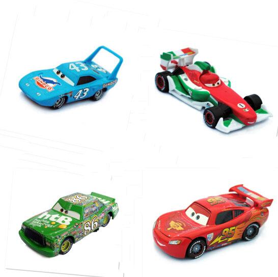 Гаджет  Pixar Cars 2 The King/Chick Hicks/Mcque/Francesco Bernoulli Diecast Metal Car Kids Toy 4Pcs/Lot Free Shipping None Игрушки и Хобби