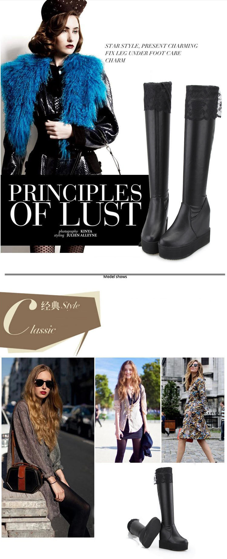 Fashion Nice Boots Elastic Over The Knee Boots Long Barreled Boots women's Shoes Fashion Confortable Female Shoes078  80