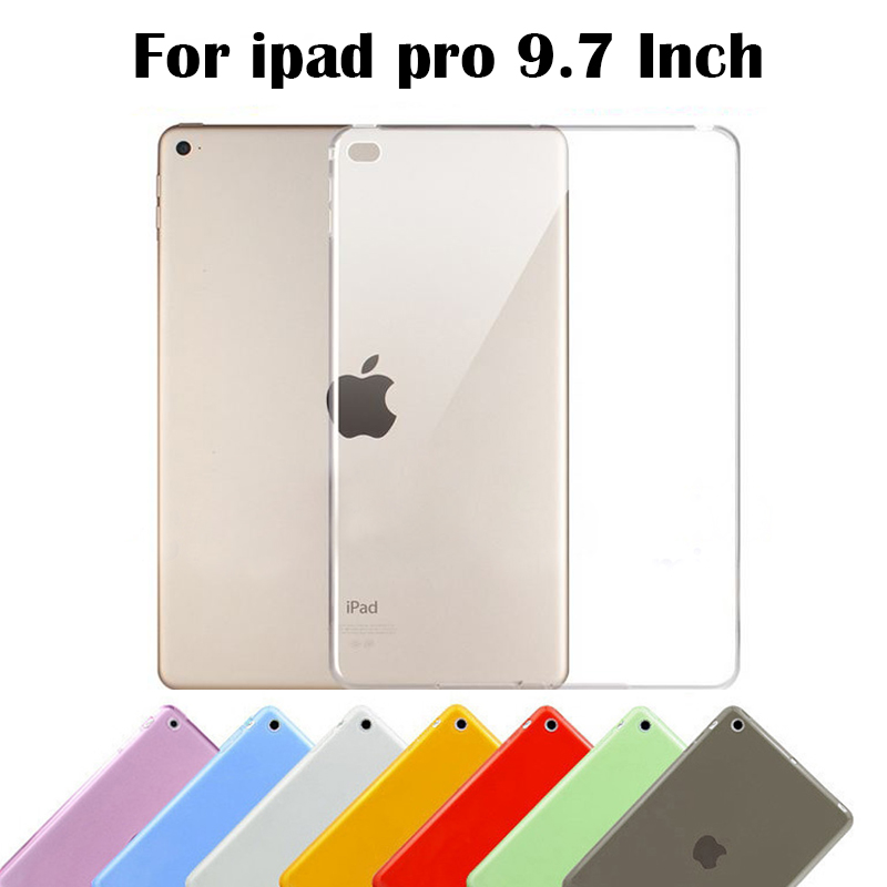 For iPad pro 9.7 inch Cover Top Quality Smooth TPU Soft Transparent Case Cover Skin Protector for Apple ipad pro case Tablet Bag(China (Mainland))