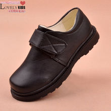Male child leather black boy formal dress flower girl formal child cow muscle leather outsole(China (Mainland))