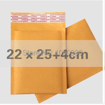 50pcs 22x29cm Kraft bubble Courier mailing bags Airkraft padded mailing envelopes self-seal bags packing list envelopes(China (Mainland))