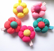Buy 10 Pcs /lot New Cute Flower Hair Clips/ Kids Candy Color BB hairpins Girls Hair Accessories for $2.92 in AliExpress store