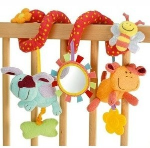baby toy,Multifunctional animals around/lathe bed hang.Safety mirrors/BB device/ring paper/teeth glue/take pull shock - Love flagship store
