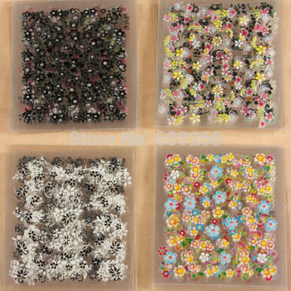 50 Sheets 3D Colorful Decal Stickers Nail Art Manicure Tips DIY Decoration hot sales 2015 New - Shanghai Beauty Store co.,Ltd store