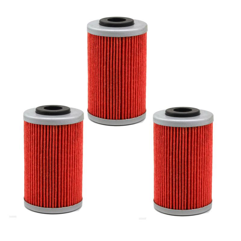 3 pcs High Performance Powersports Cartridge Oil Filter Grid for KTM 525 XC 525 / 525 XC ATV 525 / 450 XC 450(China (Mainland))