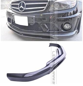 Carbon fiber front lip spoiler Carlsson style Front Bumper for B&NZ W204 C63 2008-2010