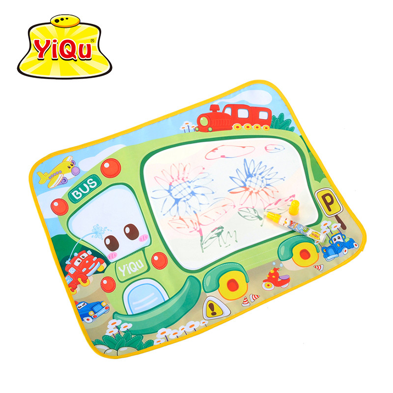Baby Game Magic Painting Mat Water Doodle Mat Pad Alfombra Infantile 58x48cm Bus Baby Water Drawing Developing Mat(China (Mainland))
