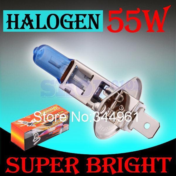 H1 55W 12V Super Bright White Fog Lights Halogen Bulb High Power Car Headlight Lamp Car