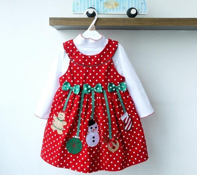 2PCS/2-6Years/Christmas Kids Dresses For Baby Girls Clothes Cartoon Cute Santa Claus Dress+T-Shirt Children Clothing Sets BC1336  HTB1mBC5KpXXXXX7aXXXq6xXFXXXH