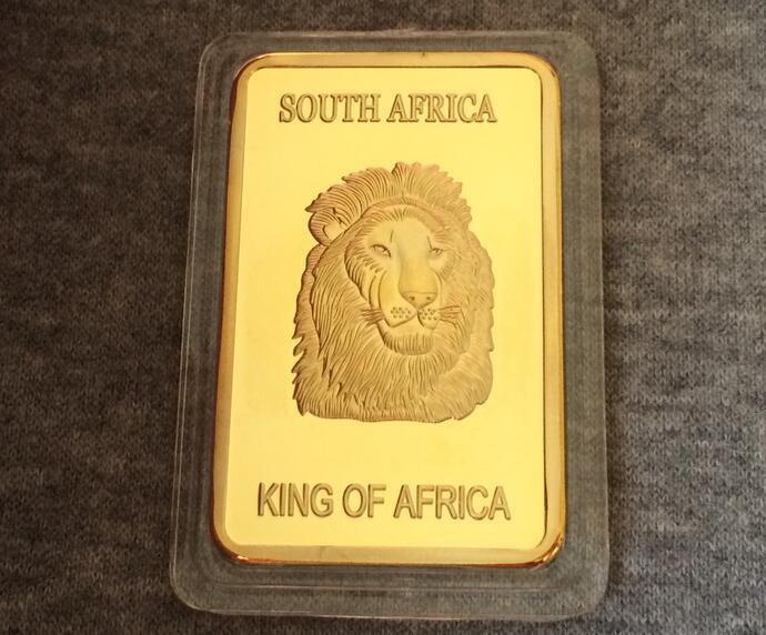BRAND NEW KRUGERRAND - SOUTH AFRICA -KRUGERRAND lion deer SOUTH AFRICA giant GOLD bar nf0shizi(China (Mainland))